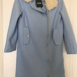 Baby blue coat size 2 brand new